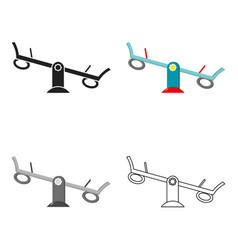 Seesaw icon in cartoon style isolated on white vector