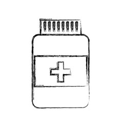 Sketch draw pill bottle vector