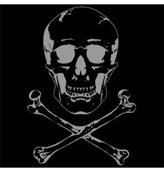 Skull and crossbones 2 vector image vector image