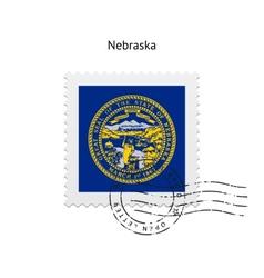 State of nebraska flag postage stamp vector