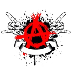 symbol anarchy and gesture hands vector image vector image