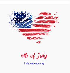 usa independence day background happy 4th of vector image vector image