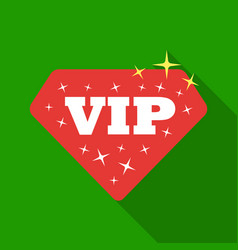Vip icon in flat style isolated on white vector