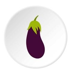 Eggplant icon flat style vector