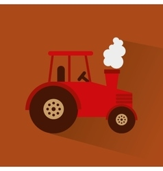 Tractor farm vehicle icon vector