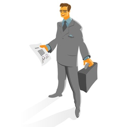 Businessman with contract vector