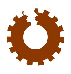 Isolated broken gear design vector