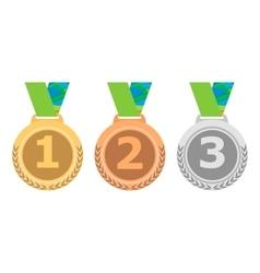 Gold medal icon silver medal icon bronze medal vector