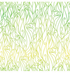 Green gradient abstract scrolls swirls vector