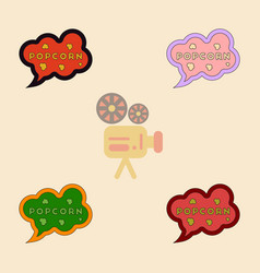 Popcorn label collection in vector
