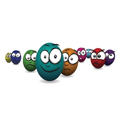 emotions eggs line1 vector image