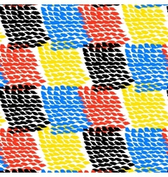 Hand painted color blocked pattern vector