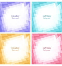 Set of light colorful technology frames vector