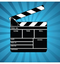 Movie clapperboard vector