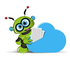 Robot and cloud vector