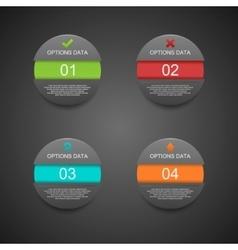 Modern sphere infographics black origam style vector