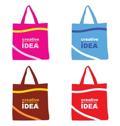 Bag with creative idea vector