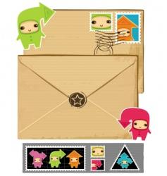 arrows envelope vector image
