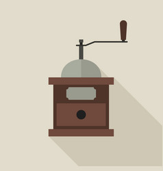 coffee grinder in flat style vector image vector image