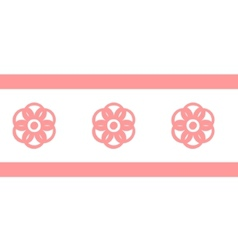 Collection pink seamless vector image vector image