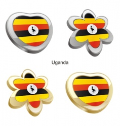 flag of Uganda vector image