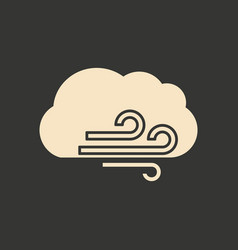 flat in black and white mobile application cloud vector image vector image