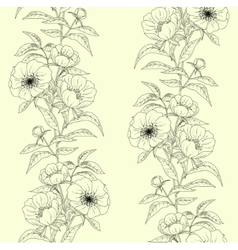 Floral seamless pattern with peonies vector image vector image