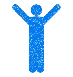 Happy Man Grainy Texture Icon vector image