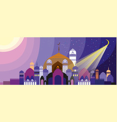 Landscape with arabian city vector