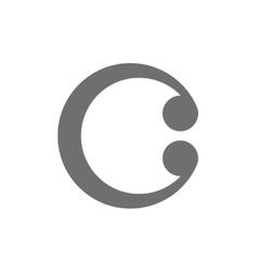 Letter c logo concept icon vector