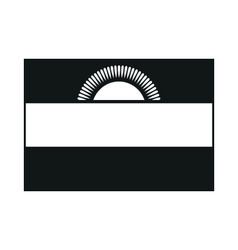 Malawi flag monochrome on white background vector