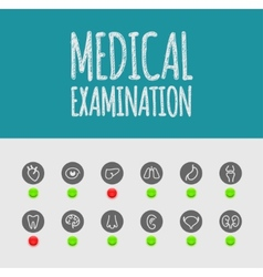 Medical examination vector