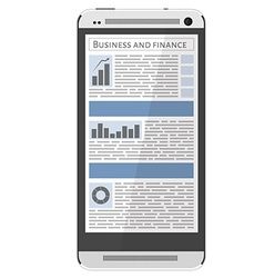 Mobile news vector image