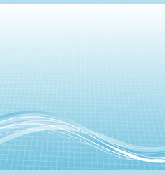 modern blue lines over halftone gradient cell vector image vector image