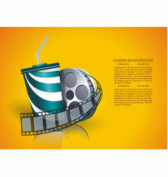 Movie time poster design template vector