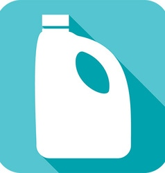 Plastic bottle for laundry detergent icon vector