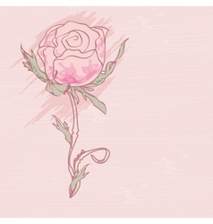 Retro card with vintage rose vector image vector image