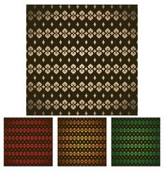 set of modern classic design pattern vector image vector image