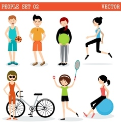 Set of the people playing sports vector image