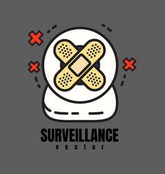 Surveillance webcam vector