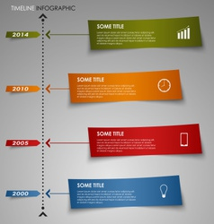 Time line info graphic colored striped paper vector