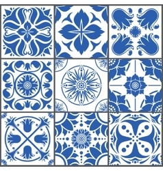 Vintage ceramic tiles floor vector