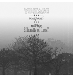 Vintage forest background with overlay texture vector image