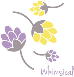 Whimsical flowers vector