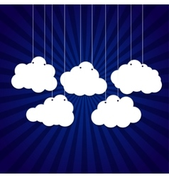 White clouds on a thread on background vector
