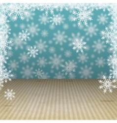 Winter holiday background with snowflakes vector image vector image
