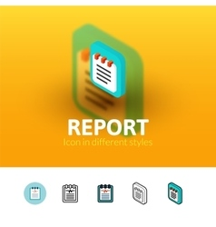 Report icon in different style vector