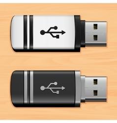 Usb flash drives vector