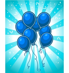 Blue party balloons vector