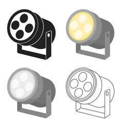 Spotlight icon in cartoon style isolated on white vector